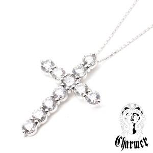 K18ダイヤ クロスペンダント[L]