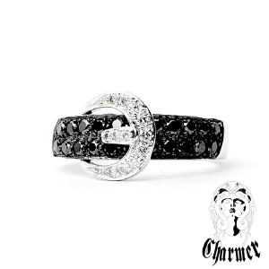 K18ブラックダイヤ ベルトモチーフリング [6号〜20号]