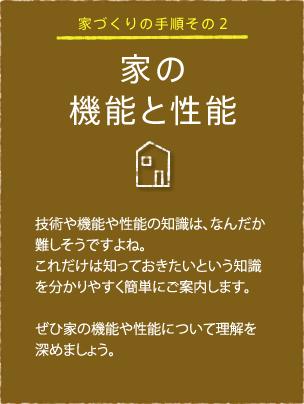 家の機能と性能